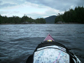 Photo: Heading for the pass between Cone Island and Cone Point.