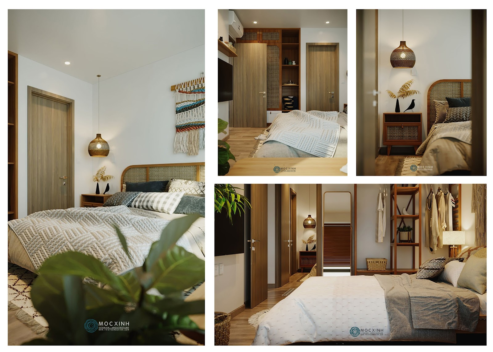 Thiết kế phòng ngủ homestay ấm áp, thư giãn