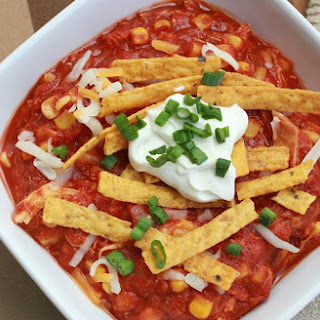 Creamy Slow Cooker Chicken Taco Soup