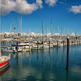 West Haven Marina, Auckland. by Graeme Hunter - City,  Street & Park  Vistas