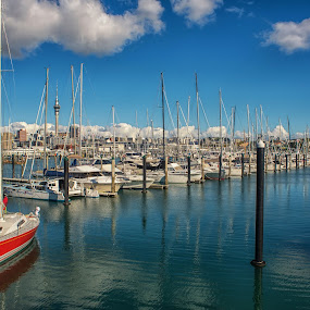 West Haven Marina, Auckland. by Graeme Hunter - City,  Street & Park  Vistas