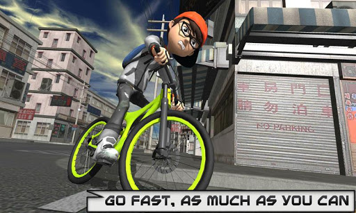 Bicycle Rider Racer Throw Paper in Bicycle Games 0.9 de.gamequotes.net 1