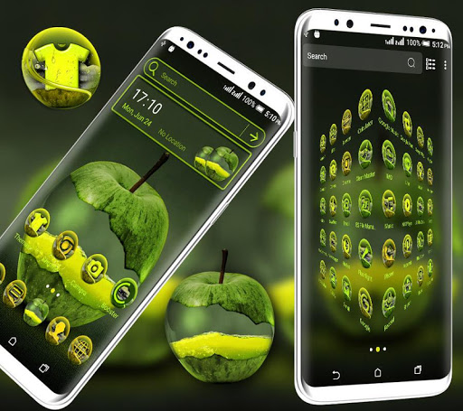 green apple launcher theme screenshot 2