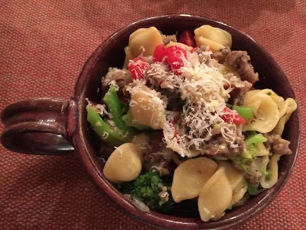 Orecchiette With Sausage And Broccoli