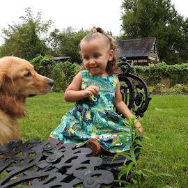 Lilah..and..Poppy by Charlotte Burnett - Babies & Children Children Candids