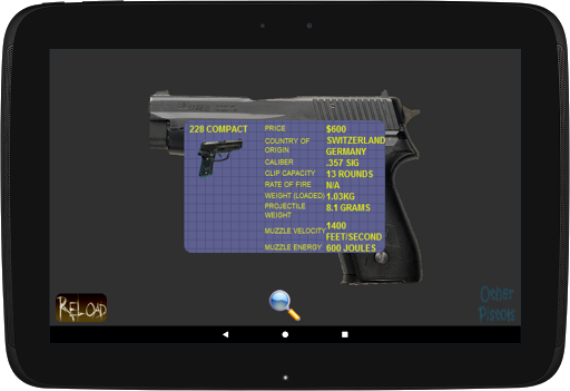 Virtual Gun Pistol - Handgun FREE