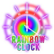 3D Rainbow Analog Clock