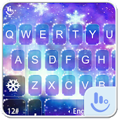 Fantasy Purple Snow Keyboard