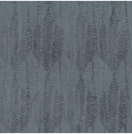Galerie Bazaar G78339 Tapet med grafiskt bladmönster, Blå