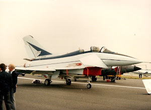 Photo: The EAP at Farnborough in 1986, this one is now in the RAF Museum at Cosford.