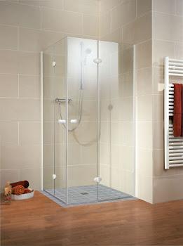 Accès d'angle avec portes pivotantes pliantes, 80 x 80 cm ou 90 x 90 cm, Confort