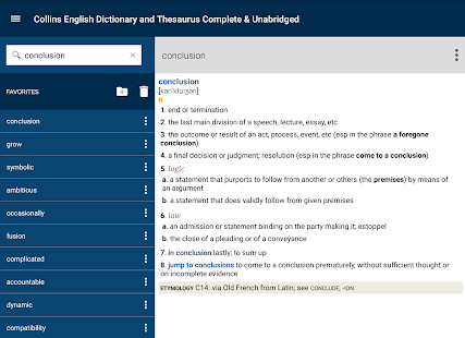 Collins English and Thesaurus- screenshot thumbnail
