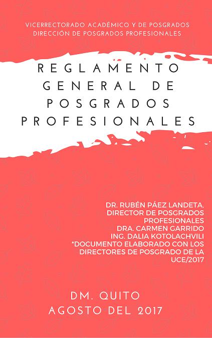 Reglamento General de Posgrados Profesionales
