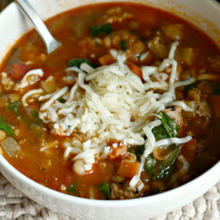 Chicken Sausage Soup with Beans and Lentils