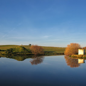 Mirror by Manuel Silva - Landscapes Waterscapes ( water, sky, lake, house, landscape )