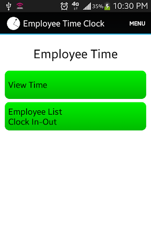 Employee Time Punch Clock