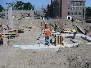 Photo: March'e Footing and foundation wall underway July 6, 2012