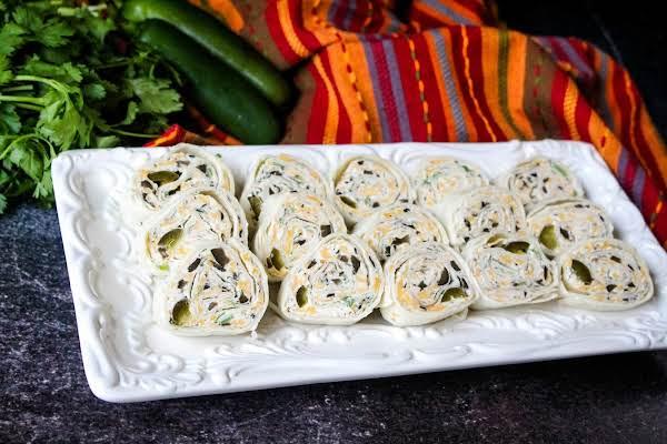 A Platter Of Mexican Pinwheels.
