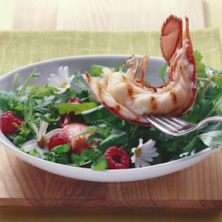 Grilled Lobster and Fragrant Salad Recipe