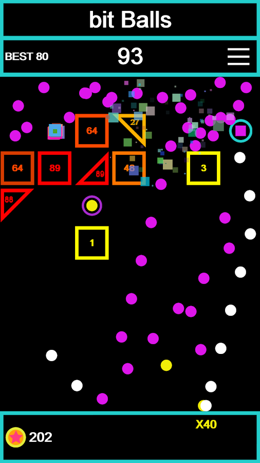 bit Balls - brick breaker- screenshot