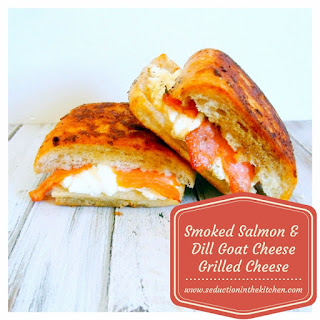 Smoked Salmon and Dill Goat Cheese Grilled Cheese.