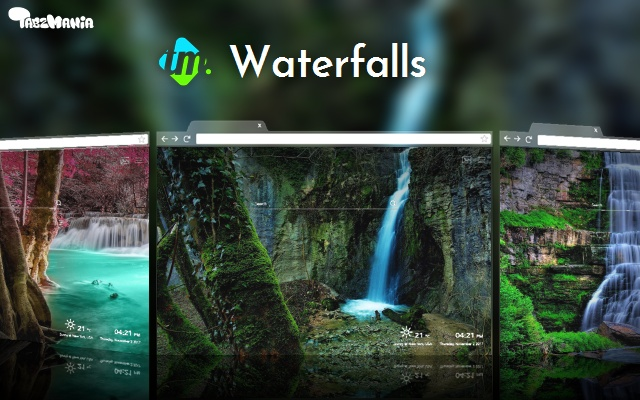 Waterfalls HD – Nature from your New Tab