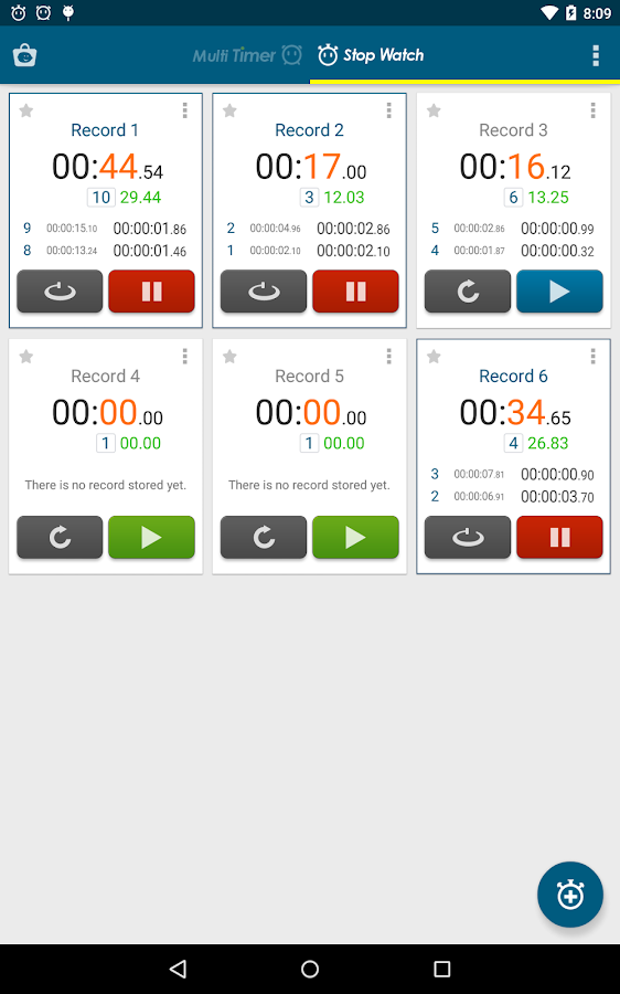 Multi Timer StopWatch - Android Apps on Google Play