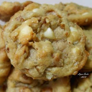 Salted Caramel White Chocolate Chip Cookies.
