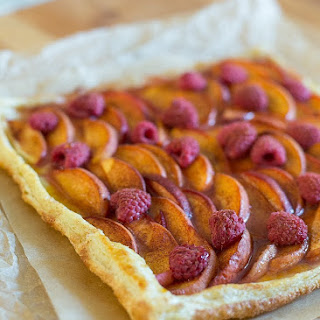 Peach and Raspberry Tart.