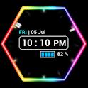 Neon Clock Widget icon