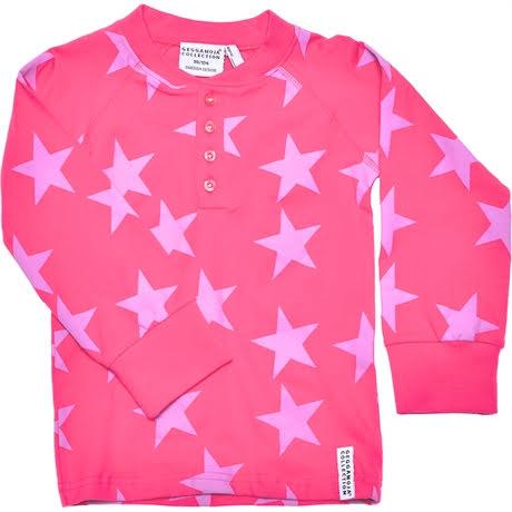 Geggamoja Sweater Grandpa Star Pink