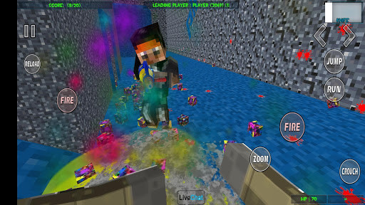 Paintball shooting war game: blocky gun paintball screenshots 15
