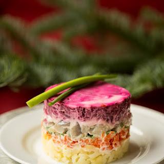 Layered Vegetable & Fish Salad {Шуба}