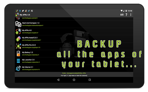 My APKs - backup restore share manage apps apk 4.2 screenshots 9