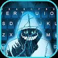 Creepy Devil Smile Cat Keyboard Theme