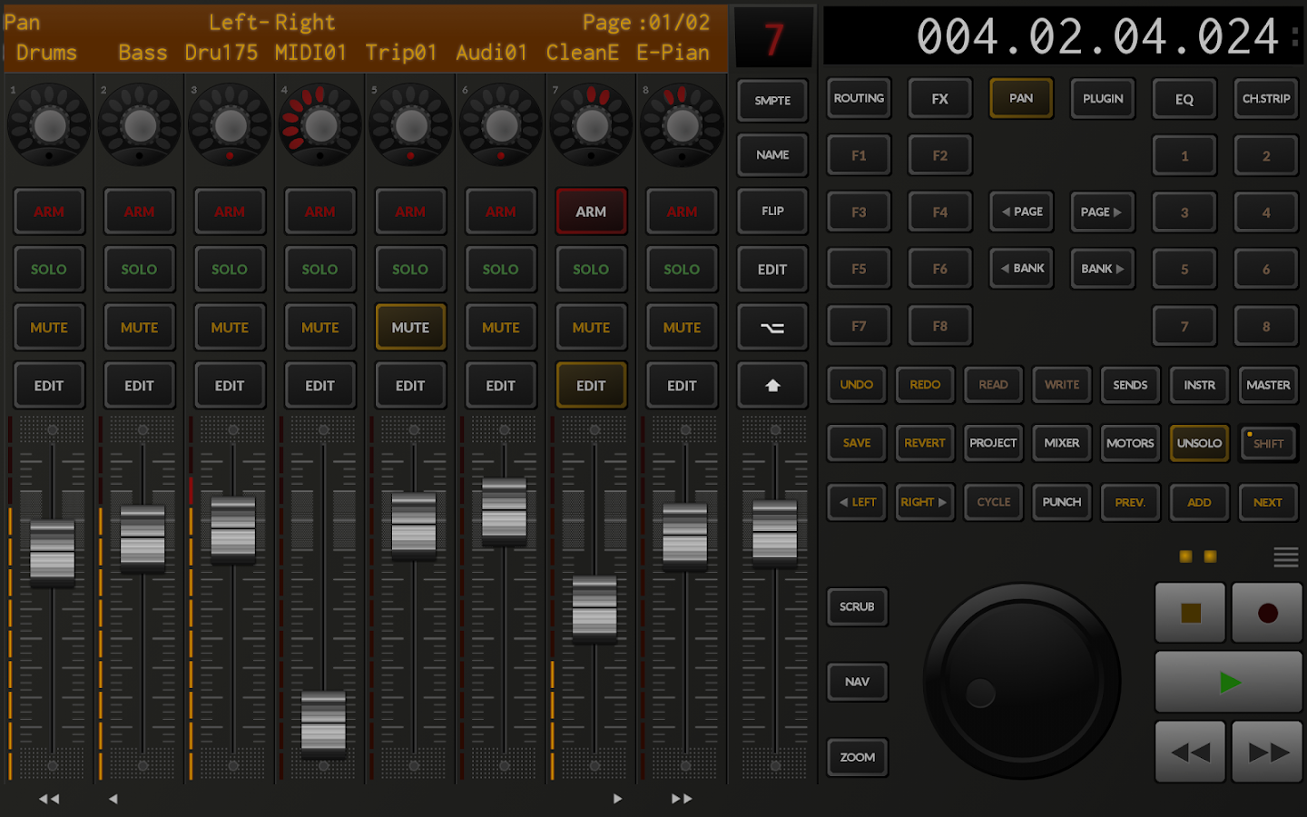 TouchDAW free- screenshot