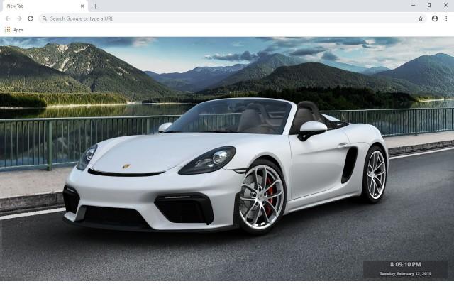 Porsche 718 Boxster New Tab Theme