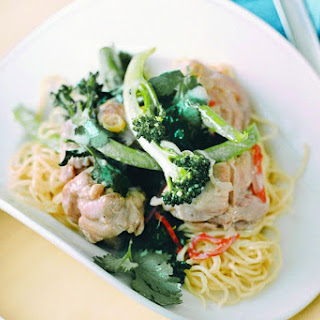 Lemongrass And Coconut Chicken On Egg Noodles