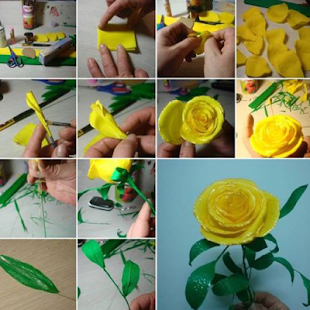 Craft paper flowers - náhled