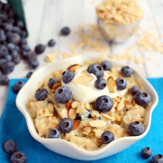 Blueberry Vanilla Protein Oatmeal Recipe