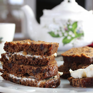 Date Nut Bread with Cream Cheese