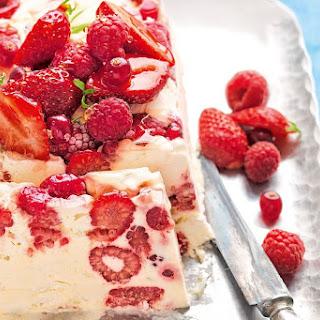 Berry and Meringue Ice Cream Slice Recipe