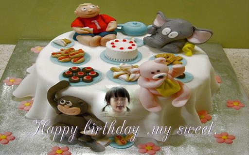 生日蛋糕相框名称