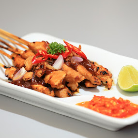 Chicken Satay by Lefri Kristianto - Food & Drink Plated Food ( indonesia, food, chicken satay )