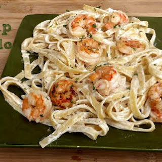 Easy Cheesy Shrimp Alfredo Recipe! Recipe