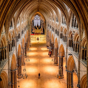 Lincoln Cathedral by Tony Walker - Buildings & Architecture Places of Worship ( interior, lincoln, church, scale arch, cathedral, religious )
