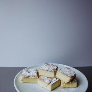 Easy Vanilla Custard Magic Cake.