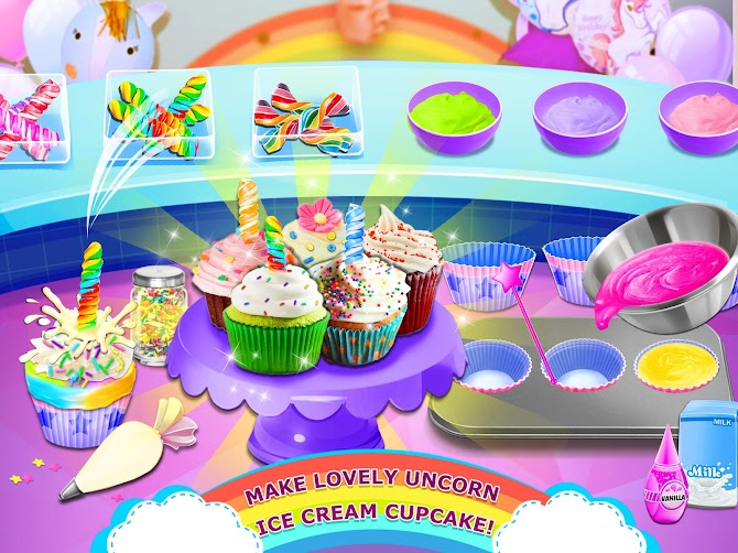 Rainbow Ice Cream - Unicorn Party Food Maker Android 7