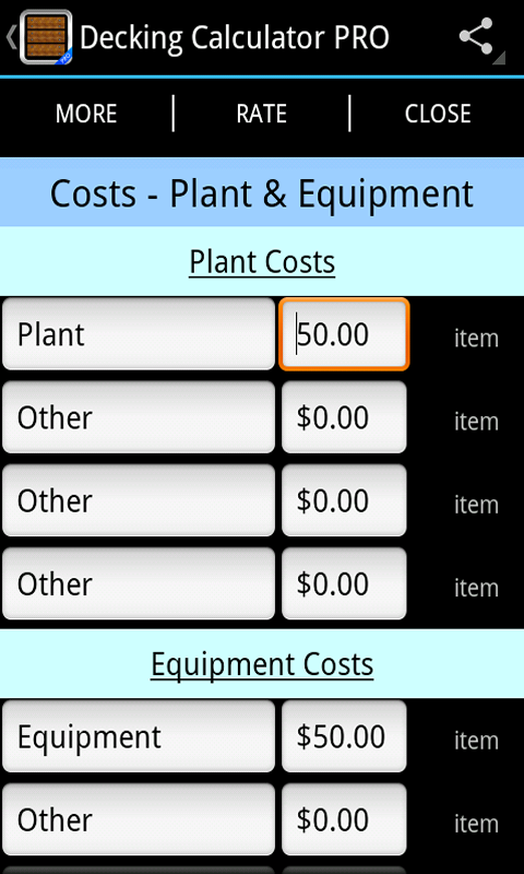 Decking calculator pro android apps on google play for Lumber calculator for house