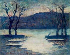 """Photo: Carlo Carrà, """"Inverno sul lago"""""""